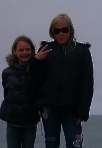 Ashley Lynn (at left) and Lauren Grace (in sunglasses; at right)